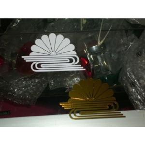 菊水紋 カッティングステッカー ホワイト/金メッキ 2枚セット|shopraptor