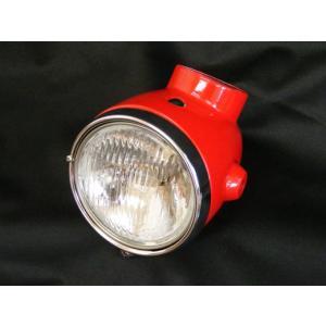 モンキー用 4Lタイプ ヘッドライト オールセット レッド|shopraptor