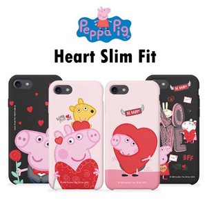 Peppa Pig Heart Slim Fit/ペッパピッグ/iPhone/Galaxy ケース/...