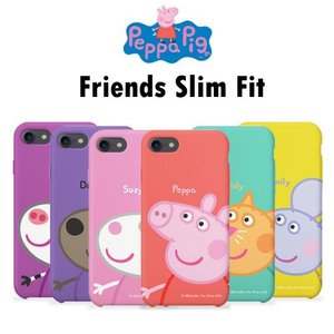 Peppa Pig Friends Slim Fit/ペッパピッグ/iPhone/Galaxy