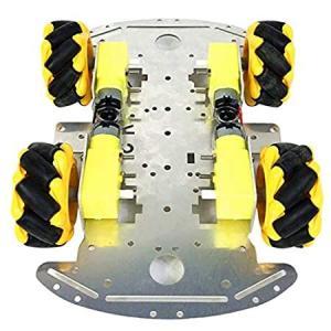 shama 4WDスマートロボットカーシャーシキット-モーター、カップリング、4個/個の全方向性ホイ...