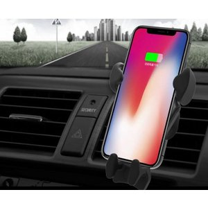 qi 充電器 車 ワイヤレス充電器 車載ホルダー iPhone8 plus iPhoneX Galaxy S8 Galaxy S9 急速充電 10W 7.5W 無線充電器 置くだけ 重力 カーチャージャー|shops-of-the-town