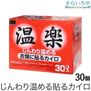 温楽 衣服に貼るカイロ 30個入 レギュラータイプ 12時間持続 オカモト|shopsorairo