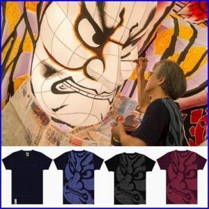 b01e4457e8dc 青森ねぶたTシャツ 青森ねぶた祭り 竹浪比呂央 ねぶたTシャツ 羅漢-らかん 歌舞伎Tシャツ 和柄Tシャツ サムライTシャツ 男女兼用サイズ