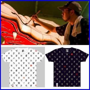 d9d275547051 青森ねぶたTシャツ 竹浪比呂央ねぶたTシャツ 面・面・面・・・。歌舞伎Tシャツ 和柄Tシャツ あおもりねぶた祭り 男女兼用 メール便送料無料