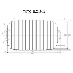 TOTO 風呂ふた(シャッター式)【EKK749W4】 ※旧品番:EKK749W5|shopsz