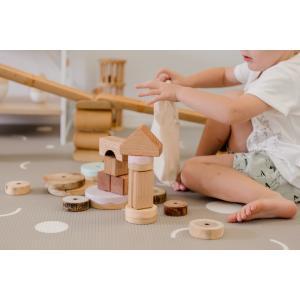 Little Wiwa正規品 高品質 TPUプレイマット Lサイズ 防音 防水 衝撃吸収 組み立て不要1.5cm厚 リバーシブルフロアマット [SNG]|shoptakaraya