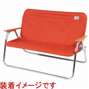 キャプテンスタッグ アルミ背付ベンチ用 着せかえカバー[オレンジ] UC-1653|shoptakumi