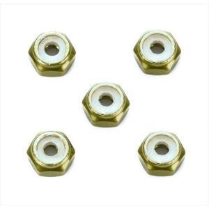 タミヤ   2mm アルミロックナット (ゴールド 5個) (ミニ四駆特別企画) 95458|shoptakumi