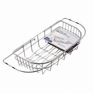パール金属 日本製 食器 水切り かご ワイド シンク スライド式 ステンレス デュアリス H-5644|shoptakumi