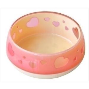 ペッツルート おいしく見えるワン食器 S ハート ピンク|shoptakumi
