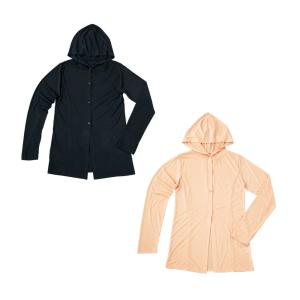UVフードカーディガン ピンクベージュ|shoptakumi