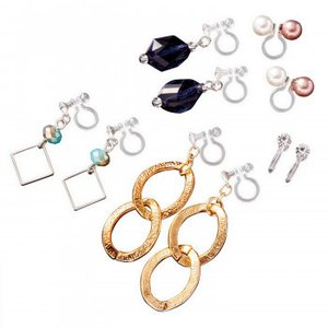 ピアスみたいなイヤリング(5種セット・6WAY)|shoptakumi