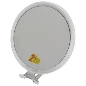 メリー 片面約2倍拡大鏡付折立ミラー CH-8730 クリア&シルバー|shoptakumi