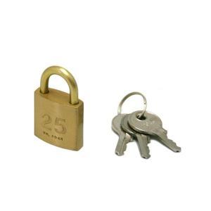 シリンダー南京錠鍵番指定 同一 25ミリ 2045D 入数1個 17251|shoptakumi