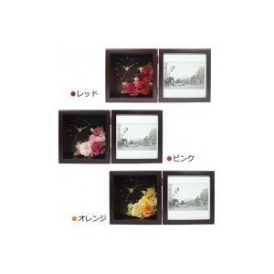 日本製 プリザーブドフラワー ピクチャーローズクロック M ブラウン 代引き不可|shoptakumi