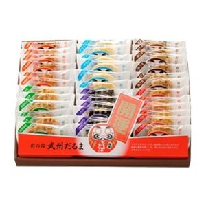 七越製菓 彩の国 だるませんべい ギフト 24枚入 12035 代引き不可|shoptakumi