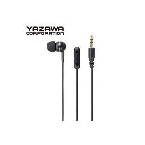 YAZAWA(ヤザワコーポレーション) ボリューム付き 片耳イヤホン カナルタイプ 1.5m Y01TMS10815BK|shoptakumi