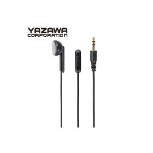 YAZAWA(ヤザワコーポレーション) ボリューム付き 片耳イヤホン インナーイヤータイプ 1.5m Y01TMS10915BK|shoptakumi