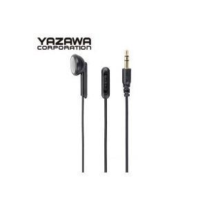 YAZAWA(ヤザワコーポレーション) ボリューム付き 片耳イヤホン インナーイヤータイプ 3m Y01TMS1093BK|shoptakumi
