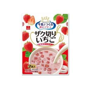 アスザックフーズ フリーズドライ 牛乳で作る 飲むデザート ザク切りいちご 2食入×12袋セット 代引き不可|shoptakumi