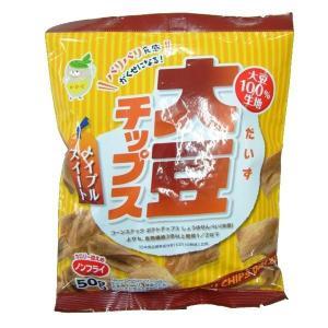 ノンフライ!  大豆チップス メイプルスイート 50g×10袋セット|shoptakumi