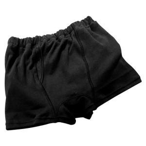 日本製 子供用おねしょパンツ(ボクサーパンツタイプ) 男の子用 ブラック 110cm|shoptakumi