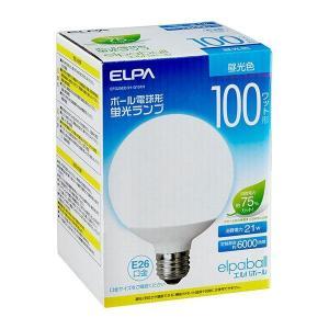 ELPA(エルパ) ボール電球形 蛍光ランプ 100W形 昼光色 EFG25ED/21-G101H|shoptakumi