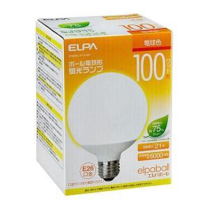 ELPA(エルパ) ボール電球形 蛍光ランプ 100W形 電球色 EFG25EL/21-G102H|shoptakumi