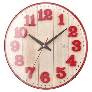 Felio(フェリオ) 壁掛け時計 ブリュレ レッド FEW181 R-Z|shoptakumi