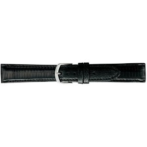 BAMBI バンビ 時計バンド グレーシャス トカゲ革(テジュー) 黒 BAA005AO|shoptakumi