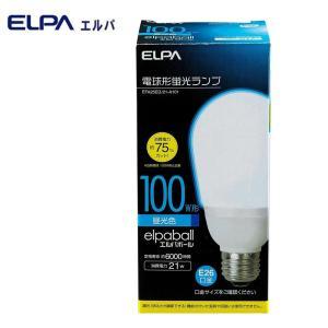 ELPA(エルパ) 電球形蛍光ランプ 3波長形昼光色 100W形 EFA25ED/21-A101|shoptakumi