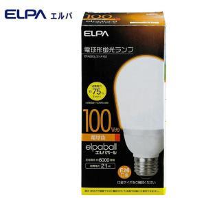 ELPA(エルパ) 電球形蛍光ランプ 3波長形電球色 100W形 EFA25EL/21-A102|shoptakumi