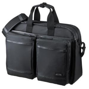 サンワサプライ 超撥水・軽量PCバッグ 3WAYタイプ 15.6インチワイド シングル ブラック  BAG-LW10BK|shoptakumi