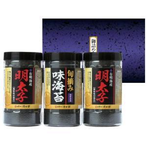 ゆかり屋本舗 有明海産 明太子風味・旬摘み味海苔セット YMI-15 7050-028|shoptakumi