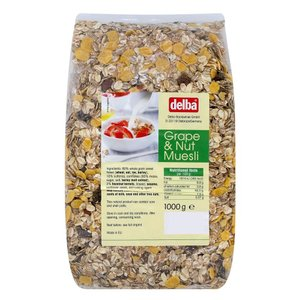 delba(デルバ) グレープ&ナッツミューズリー 1kg×10個セット 代引き不可 shoptakumi