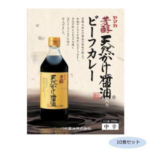 ご当地カレー 広島 川中醤油天然かけ醤油ビーフカレー 中辛 10食セット 代引き不可 shoptakumi