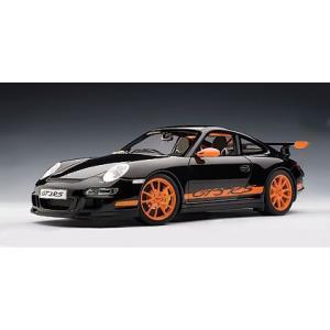 AUTOart 1/12 ポルシェ 911 (997) GT3 RS (ブラック/オレンジストライプ) 12116 shoptakumi