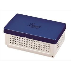 パール金属◇レノン 折りたたみランチボックス(仕切付)ブルー 日本製 D-2306 shoptakumi