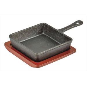 パール金属◇スプラウト 鉄鋳物製角型スキレット 13×13cm HB-3027|shoptakumi
