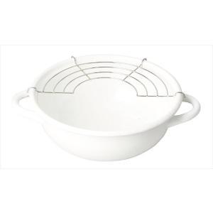 パール金属 ブランキッチン ホーロー 天ぷら鍋 20cm HB-3677|shoptakumi