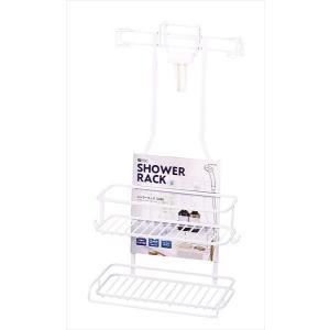 パール金属 浴室用ラック ホワイト 幅27.5×奥行14.5×高さ50cm シャワーラック 2段 スパージュ HB-4348 shoptakumi