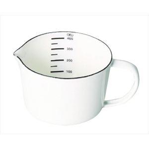 パール金属 計量カップ ホワイト 400ml ホーロー メジャーカップ ブランキッチン HB-4434|shoptakumi