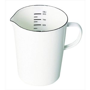 パール金属 計量カップ ホワイト 800ml ホーロー メジャーカップ ブランキッチン HB-4435|shoptakumi