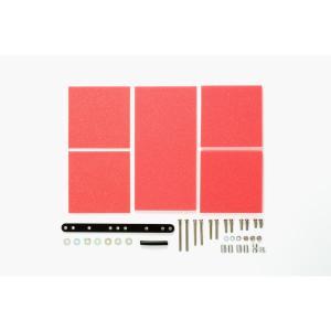 タミヤ ミニ四駆グレードアップパーツ GP.492 ブレーキスポンジセット(1/2/3mm レッド)...