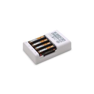 タミヤ ミニ四駆グレードアップパーツ 単3形ニッケル水素電池ネオチャンプ(4本)と急速充電器PROI...