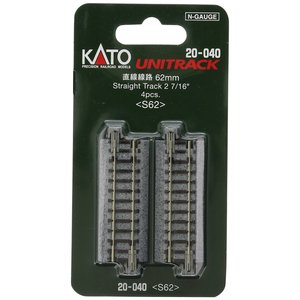 KATO Nゲージ [20-040] ユニトラック 直線線路62mm(4本入) S62|shoptakumi