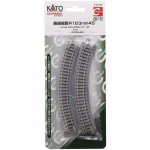 KATO Nゲージ [20-172] ユニトラックコンパクト 曲線線路 R183-45°(4本入) R183-45|shoptakumi
