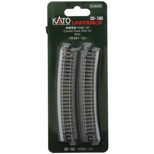 KATO Nゲージ [20-160] ユニトラック曲線線路 R481-15°(4本入) R481-15|shoptakumi