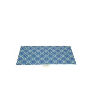 キャプテンスタッグ◇クッションレジャーシート90×180cm(ブルーチェック)ピン4本付  M-3337|shoptakumi